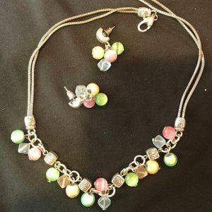 Brighton Pastel Beaded Necklace - Earring Set